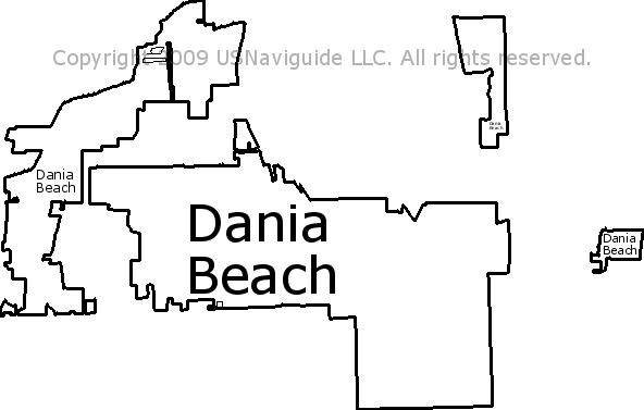 Dania Beach Florida Map.Dania Beach Florida Zip Code Boundary Map Fl