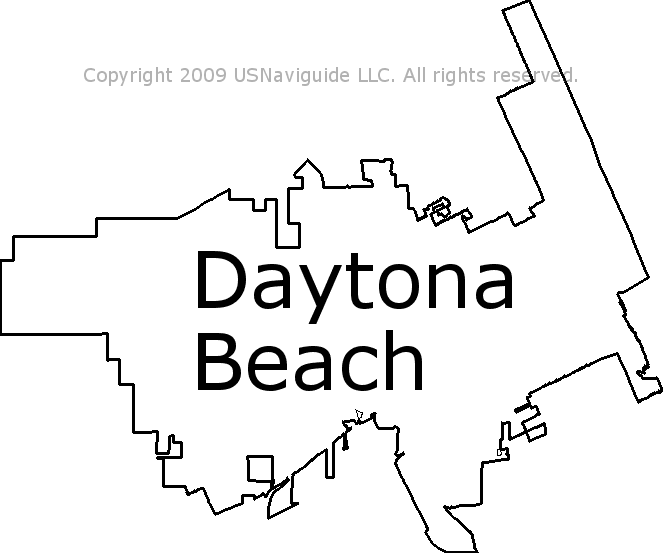 Ormond Beach Zip Code Map.Daytona Beach Florida Zip Code Boundary Map Fl