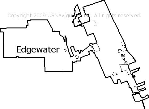 Orlando Florida Zip Code Map.Edgewater Florida Zip Code Boundary Map Fl