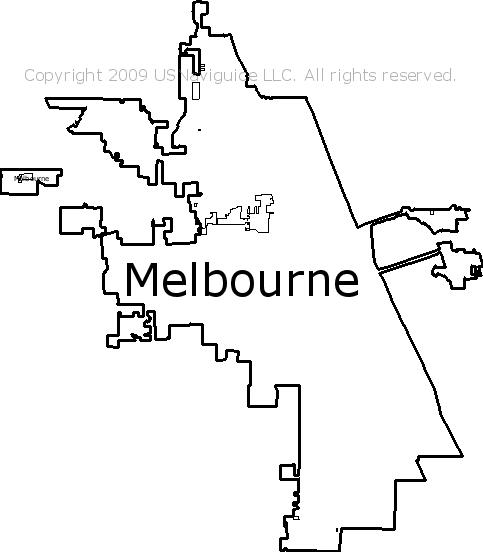 Palm Bay Florida Zip Code Map.Melbourne Florida Zip Code Boundary Map Fl