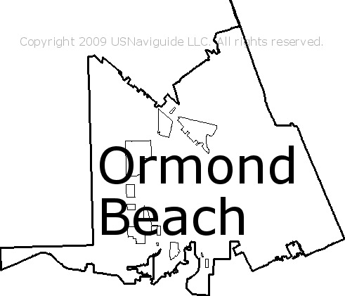 Ormond Beach Zip Code Map.Ormond Beach Florida Zip Code Boundary Map Fl
