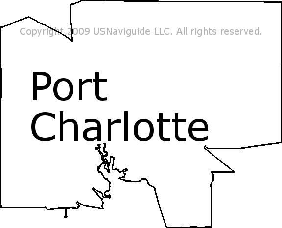 Port Charlotte Florida Zip Code Boundary Map Fl