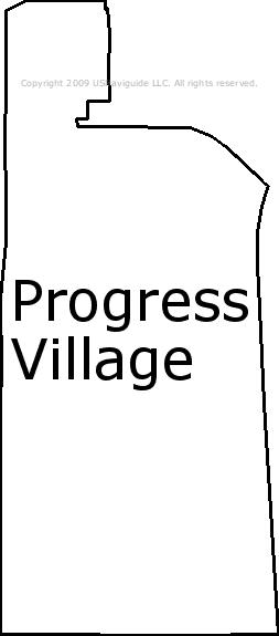 Progress Village Florida Zip Code Boundary Map Fl