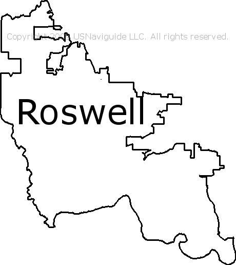 Roswell Ga Zip Code Map.Roswell Georgia Zip Code Boundary Map Ga