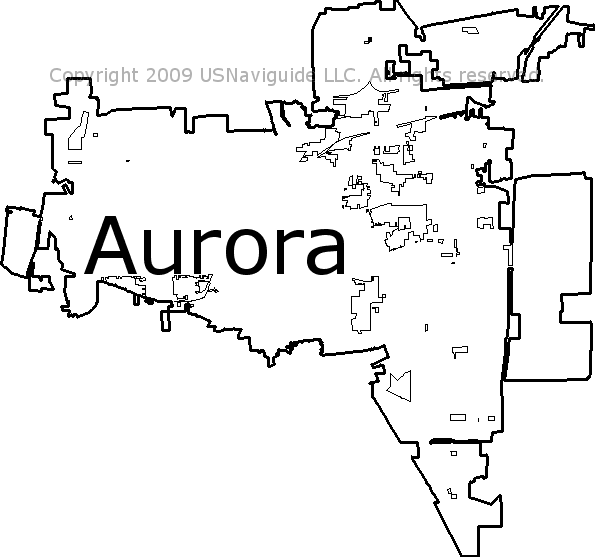 Aurora Illinois Zip Code Boundary Map Il