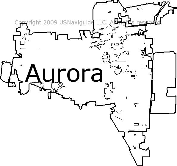 Oswego Il Zip Code Map.Aurora Illinois Zip Code Boundary Map Il