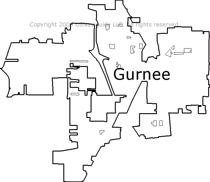 Antioch Il Zip Code Map.Gurnee Illinois Zip Code Boundary Map Il