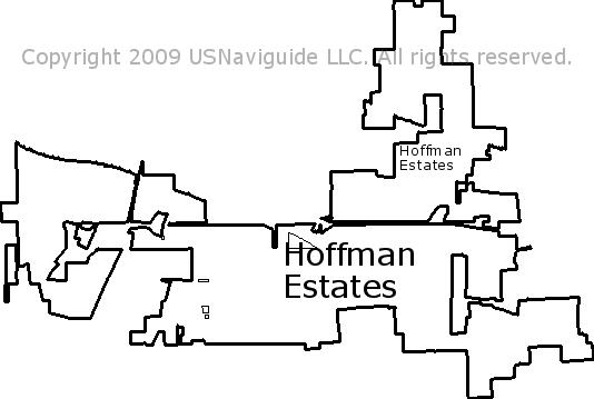 Schaumburg Il Zip Code Map.Hoffman Estates Illinois Zip Code Boundary Map Il
