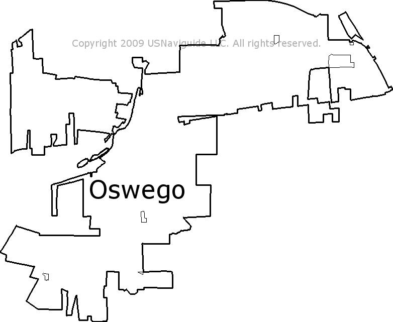 Oswego Il Zip Code Map.Oswego Illinois Zip Code Boundary Map Il