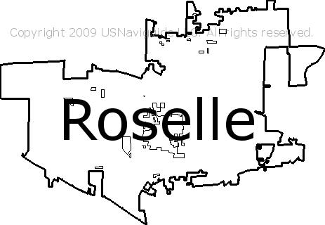 Schaumburg Il Zip Code Map.Roselle Illinois Zip Code Boundary Map Il