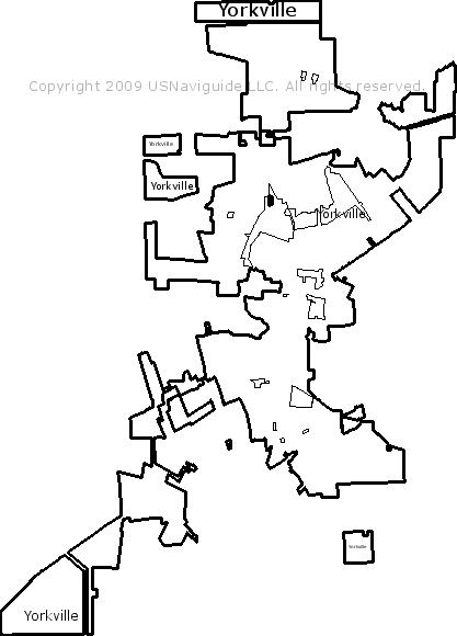 Oswego Il Zip Code Map.Yorkville Illinois Zip Code Boundary Map Il
