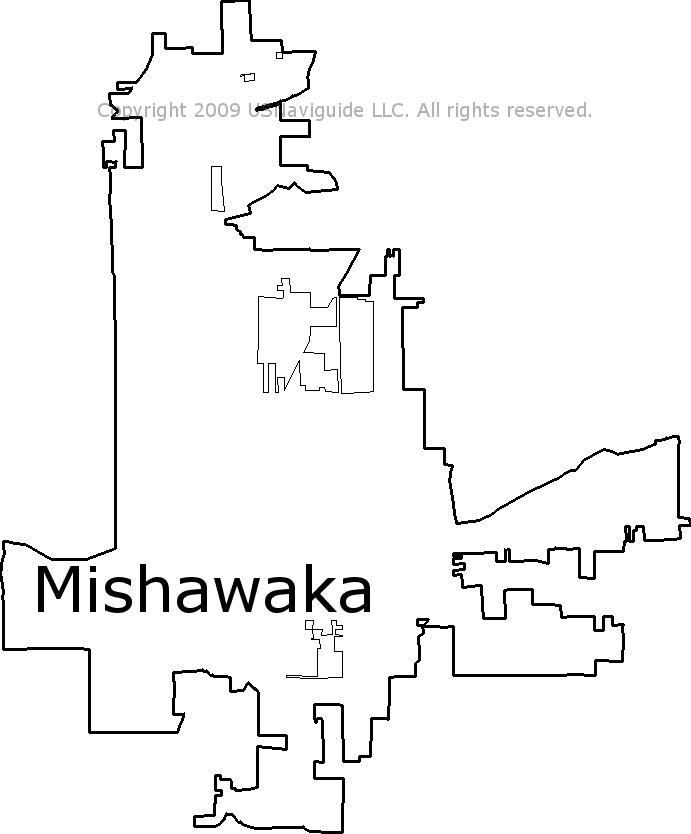 Mishawaka Zip Code Map.Mishawaka Indiana Zip Code Boundary Map In