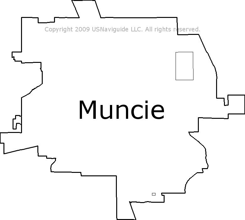Muncie Zip Code Map.Muncie Indiana Zip Code Boundary Map In