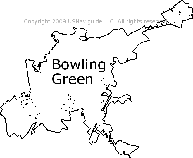 Bowling Green Zip Code Map.Bowling Green Kentucky Zip Code Boundary Map Ky