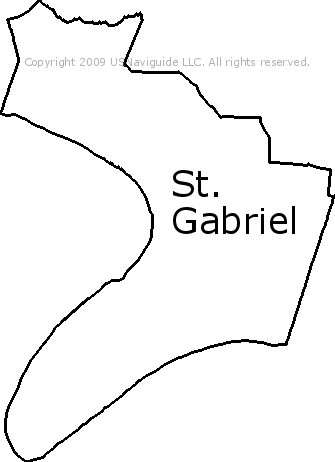 San Gabriel Zip Code Map.St Gabriel Louisiana Zip Code Boundary Map La