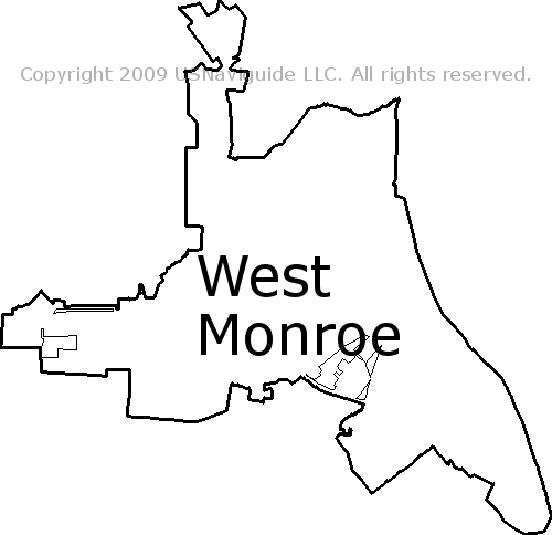 West Monroe Zip Code Map.West Monroe Louisiana Zip Code Boundary Map La