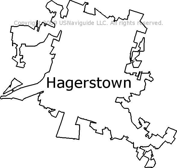 Hagerstown Md Zip Code Map.Hagerstown Maryland Zip Code Boundary Map Md