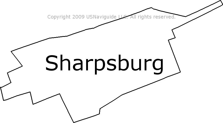 Hagerstown Md Zip Code Map.Sharpsburg Maryland Zip Code Boundary Map Md