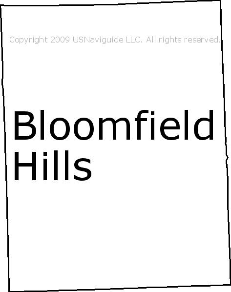 Birmingham Mi Zip Code Map.Bloomfield Hills Michigan Zip Code Boundary Map Mi