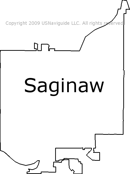 Saginaw Mi Zip Code Map.Saginaw Michigan Zip Code Boundary Map Mi