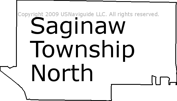 Saginaw Mi Zip Code Map.Saginaw Township North Michigan Zip Code Boundary Map Mi