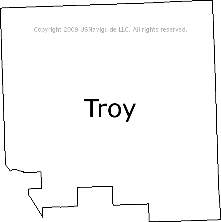 Birmingham Mi Zip Code Map.Troy Michigan Zip Code Boundary Map Mi