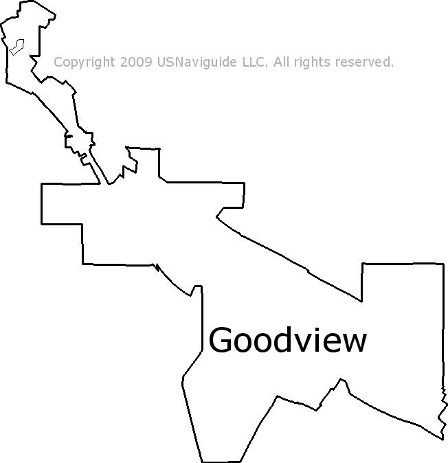 Goodview Minnesota Zip Code Boundary Map Mn