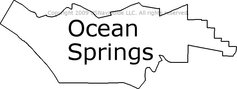 Ocean Springs Ms Zip Code Map.Ocean Springs Mississippi Zip Code Boundary Map Ms