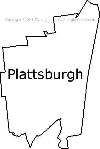 Plattsburgh Ny Zip Code Map.Plattsburgh New York Zip Code Boundary Map Ny