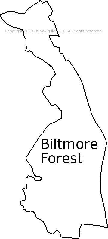 Asheville North Carolina Zip Code Map.Biltmore Forest North Carolina Zip Code Boundary Map Nc