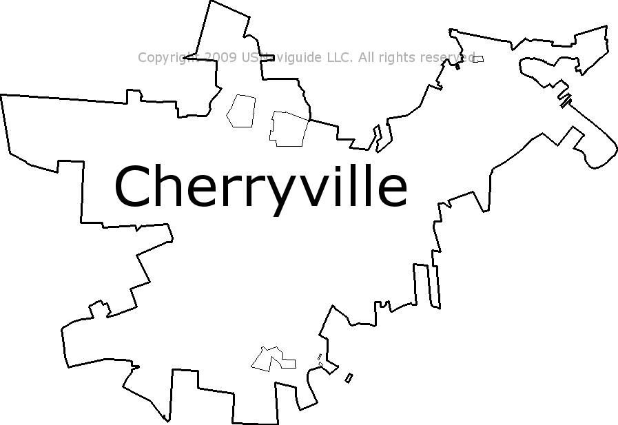 Cherryville North Carolina Zip Code Boundary Map Nc