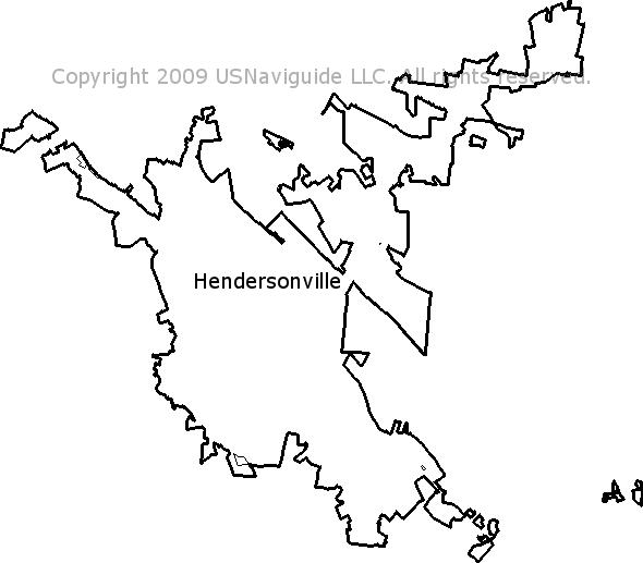 Asheville North Carolina Zip Code Map.Hendersonville North Carolina Zip Code Boundary Map Nc