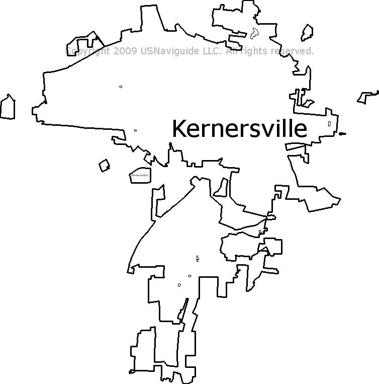 Kernersville Nc Zip Code Map.Kernersville North Carolina Zip Code Boundary Map Nc