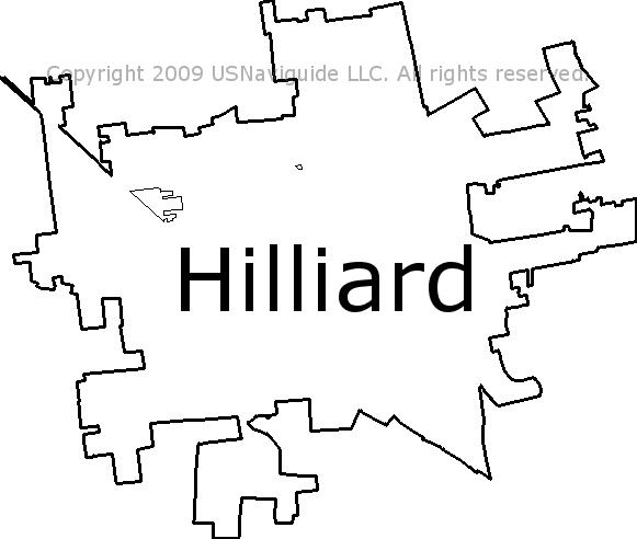 Hilliard Zip Code Map.Hilliard Ohio Zip Code Boundary Map Oh