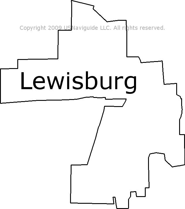 Lewisburg Ohio Map.Lewisburg Ohio Zip Code Boundary Map Oh