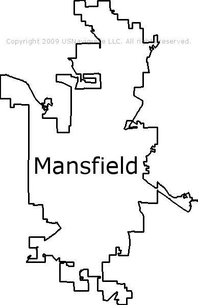 Mansfield Ohio Zip Code Map.Mansfield Ohio Zip Code Boundary Map Oh