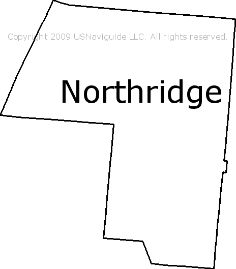 Northridge Ohio Zip Code Boundary Map Oh