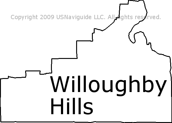 Willoughby Hills Ohio Zip Code Boundary Map Oh