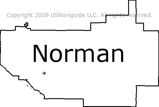 Norman Zip Code Map.Norman Oklahoma Zip Code Boundary Map Ok