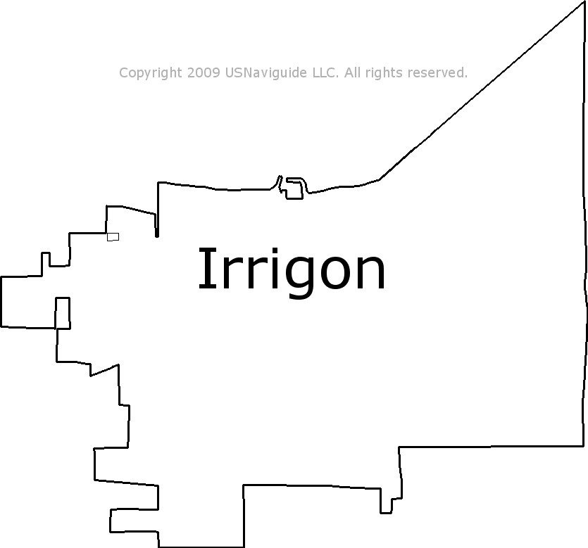Irrigon Oregon Map.Irrigon Oregon Zip Code Boundary Map Or