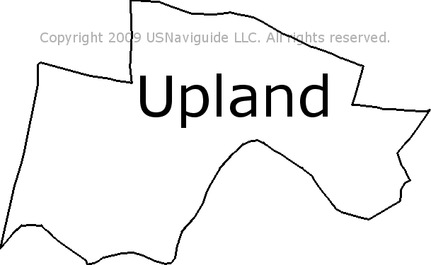 Upland Zip Code Map.Upland Pennsylvania Zip Code Boundary Map Pa