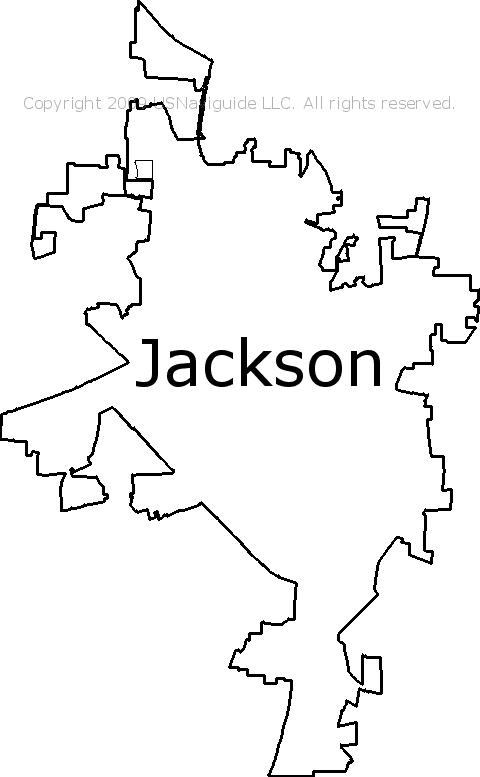 Jackson Tn Zip Code Map.Jackson Tennessee Zip Code Boundary Map Tn