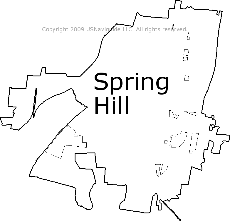 Spring Hill Tn Zip Code Map.Spring Hill Tennessee Zip Code Boundary Map Tn