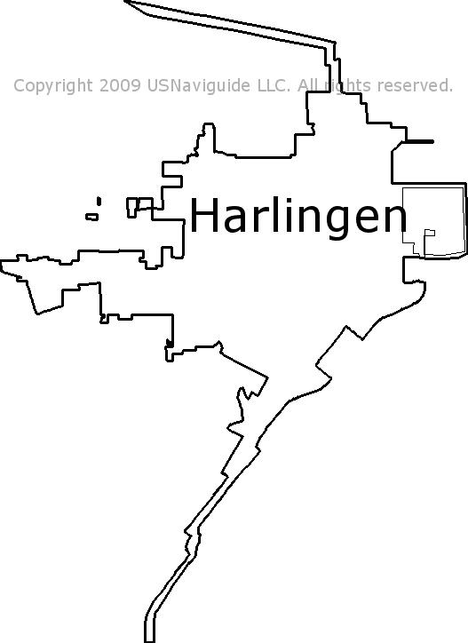 Harlingen Tx Zip Code Map.Harlingen Texas Zip Code Boundary Map Tx