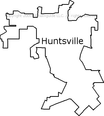 Huntsville Tx Zip Code Map.Huntsville Texas Zip Code Boundary Map Tx