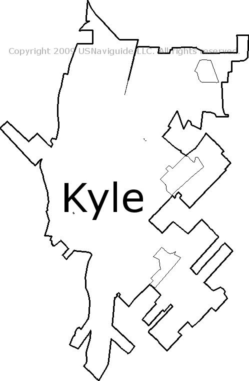 Kyle Tx Zip Code Map.Kyle Texas Zip Code Boundary Map Tx