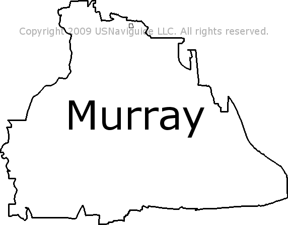 Murray Utah Zip Code Boundary Map Ut