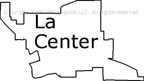 La Center Washington Zip Code Boundary Map Wa