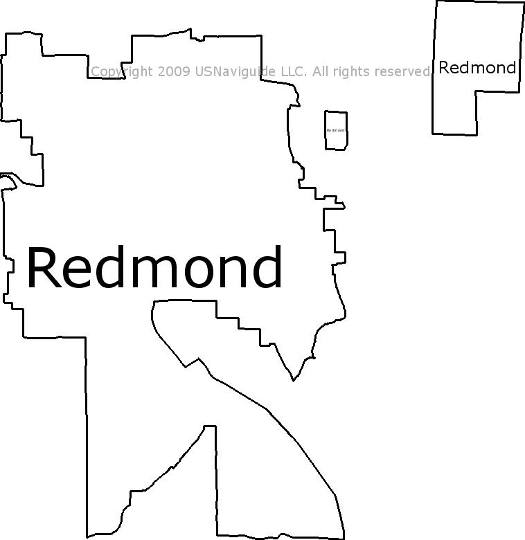 Redmond Zip Code Map.Redmond Washington Zip Code Boundary Map Wa