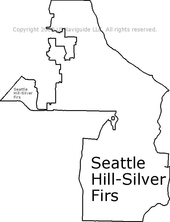Seattle Hill Silver Firs Washington Zip Code Boundary Map Wa